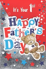 Fathers Day New Dad Card - 1st Fathers Day