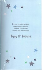 Birthday 13th Card - Have Lots & Lots Of Fun!