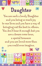 Keepsake Heartwarmers Daughter Card