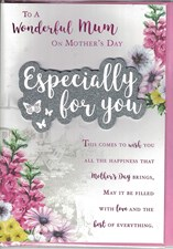 Mother's Day Card - 3D Embellishment Surrounded By Flowers
