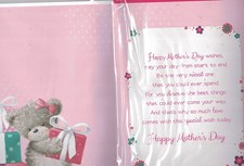 Mother's Day Card - Cute Bear And Presents!