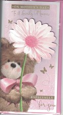 Mother's Day Card - Cute Bear Holding A Flower
