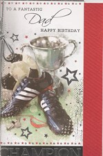 Birthday Dad Card - Trophy & Trainers