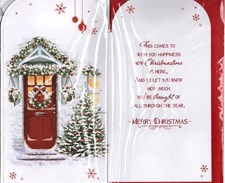 Christmas To Both Of You Card - Front Door Decorations