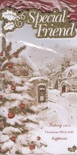 Christmas Special Friend Card - Traditional Village Scene