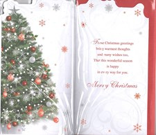 Christmas Special Friends Card - Christmas Tree & Baubles