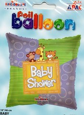 Party Baby Shower Foil Balloon - Cute Animals