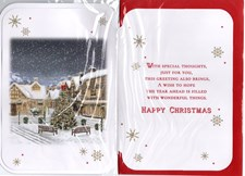 Christmas To Both Of You Card - Village Scene