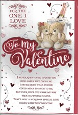 Valentines Day One I Love Card – Bear Couple & Champagne