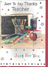 Thank You Teacher Card - Stationary & Apples