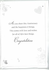 Anniversary Brother & Sister in Law Card – Bride and Groom