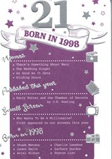 Birthday Age 21st 2019 Year Card - 1998 Was a Special Year Purple