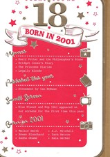Birthday Age 18 2019 Pink Year Card - 2001 Was a Special Year Female