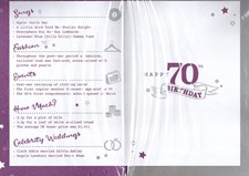 Birthday Age 70th 2019 Year Pink Card - 1949 Was a Special Year PURPLE