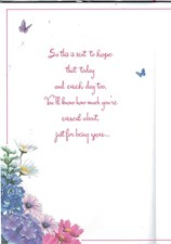 Mother's Day Flower Card - Colourful Flowers Surrounding 8 Pages Of Verses