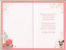 Birthday Age 50th Wife Card - Make Up & Handbag