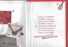 Valentines Day Fiancée Card – Couple Holding Hands