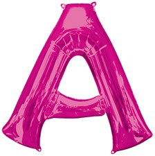"Magenta Giant 34"" Letter 'A' Foil Balloon"