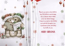 Christmas Brother & Sister-In-Law Card - Cute Bear Couple