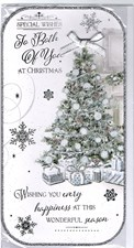 Christmas To Both Of You Card - Silver Christmas Tree