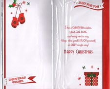 Christmas Brother Card - Christmas Stocked Adorned With Colourful Text!