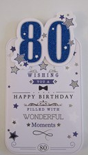 Birthday 80th Card - Happy Birthday Filled With Wonderful Moments