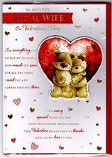 Valentines Day Wife Card – Bear Couple & Heart