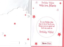 Birthday Niece Card - Cute Fairy Princess Bear