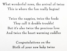 Birth Of Your Twins Card - Baby Shoes