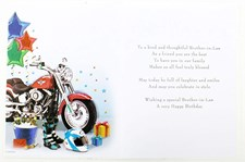 Birthday Brother-In-Law Card - Motorbike And Beers