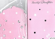 Birth Of Your Daughter Card - Cute Bear & Stars