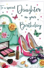Birthday Daughter Card - Make Up & High Heels