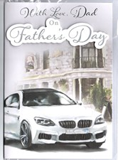 Fathers Day Sports Car Card - Traditional Illustration
