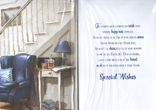 Fathers Day Like A Dad To Me Card - Stairs & Sofa