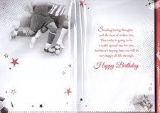 Birthday Brother Card - Footballers