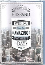 Fathers Day To My Husband Card - City View
