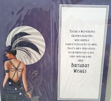 Birthday Granddaughter Card - 1920s Theme With An Illustration Of A Woman