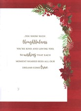 Christmas Mum Card - A Floral Banner Surrounding A Lovely Message!