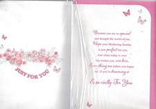 Mother's Day Mothering Sunday Card - Flowers Surrounding A Heartfelt Message