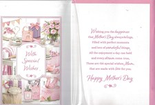 Mother's Day Card - 3D Embellishment Surrounded By A Collage Of Illustrations