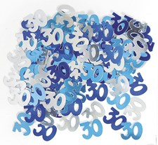 Blue Glitz 30th Birthday Table Confetti