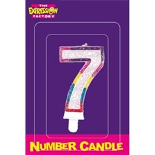 Multicoloured Age 7 Number Candle
