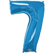 "Qualatex Blue '7' Giant 34"" Number Foil Balloon"
