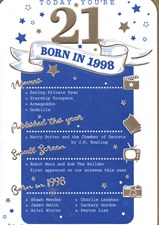 Birthday Age 21st 2019 Year Card - 1998 Was a Special Year Blue