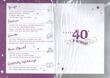 Birthday Age 40th 2019 Year Card - 1979 Was a Special Year Purple