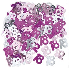 Birthday Pink Glitz 18th Table Confetti