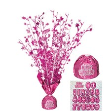 Pink All Ages Glitz Happy Birthday Balloon Weight Centrepiece