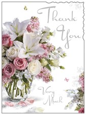 Jonny Javelin Thank You Very Much - Lily Bouquet Card