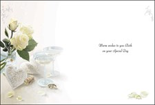 Jonny Javelin On The Renewal Of Your Vows - White Roses Card