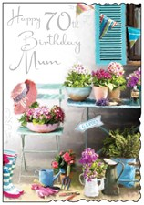Jonny Javelin Birthday Mum 70th Card - Gardening